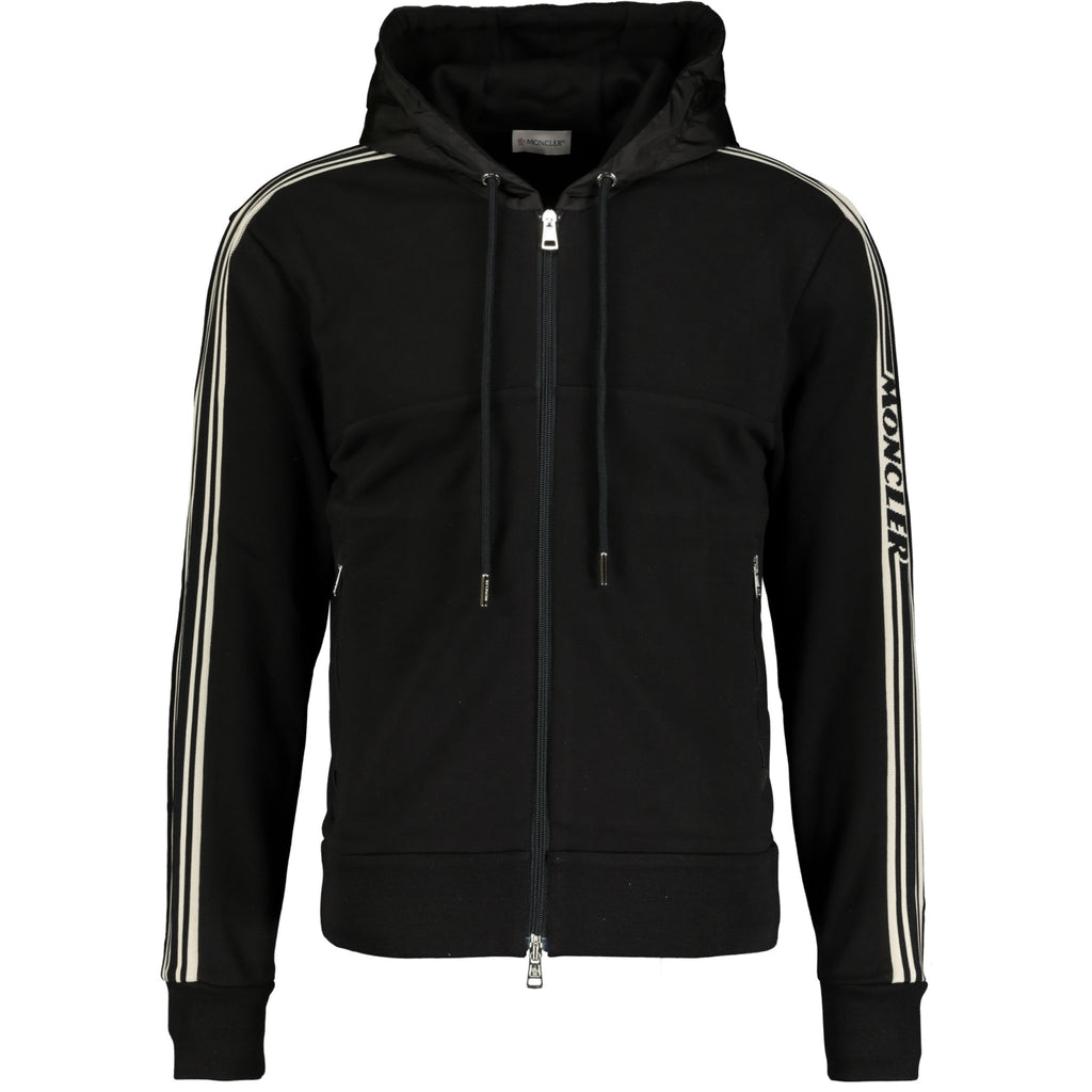 Moncler Nylon Hooded Jumper Black - chancefashionco