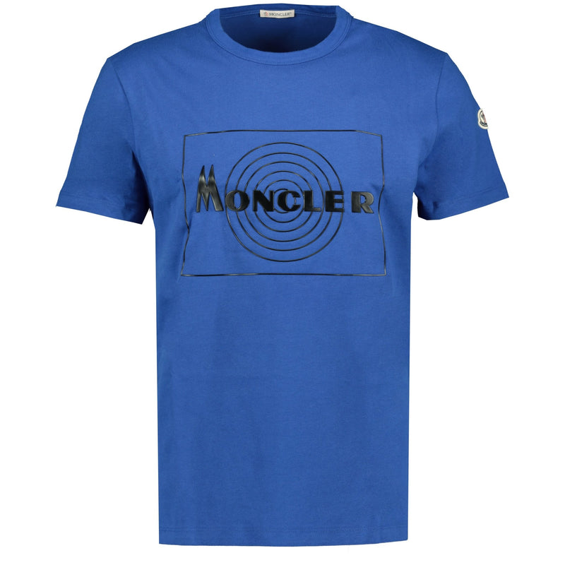 Moncler Rubber Logo T-Shirt Blue - chancefashionco