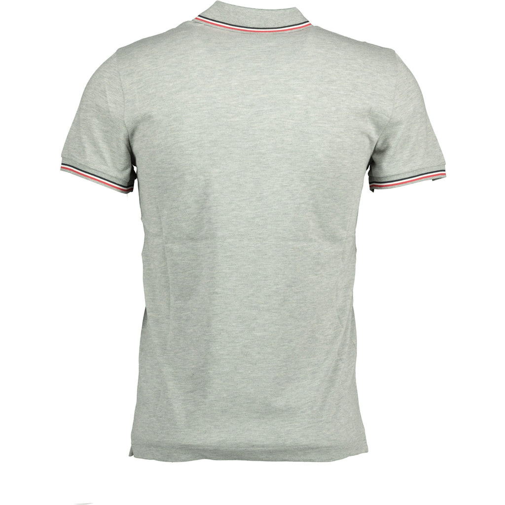 Moncler Stripe Cotton Polo Grey - chancefashionco