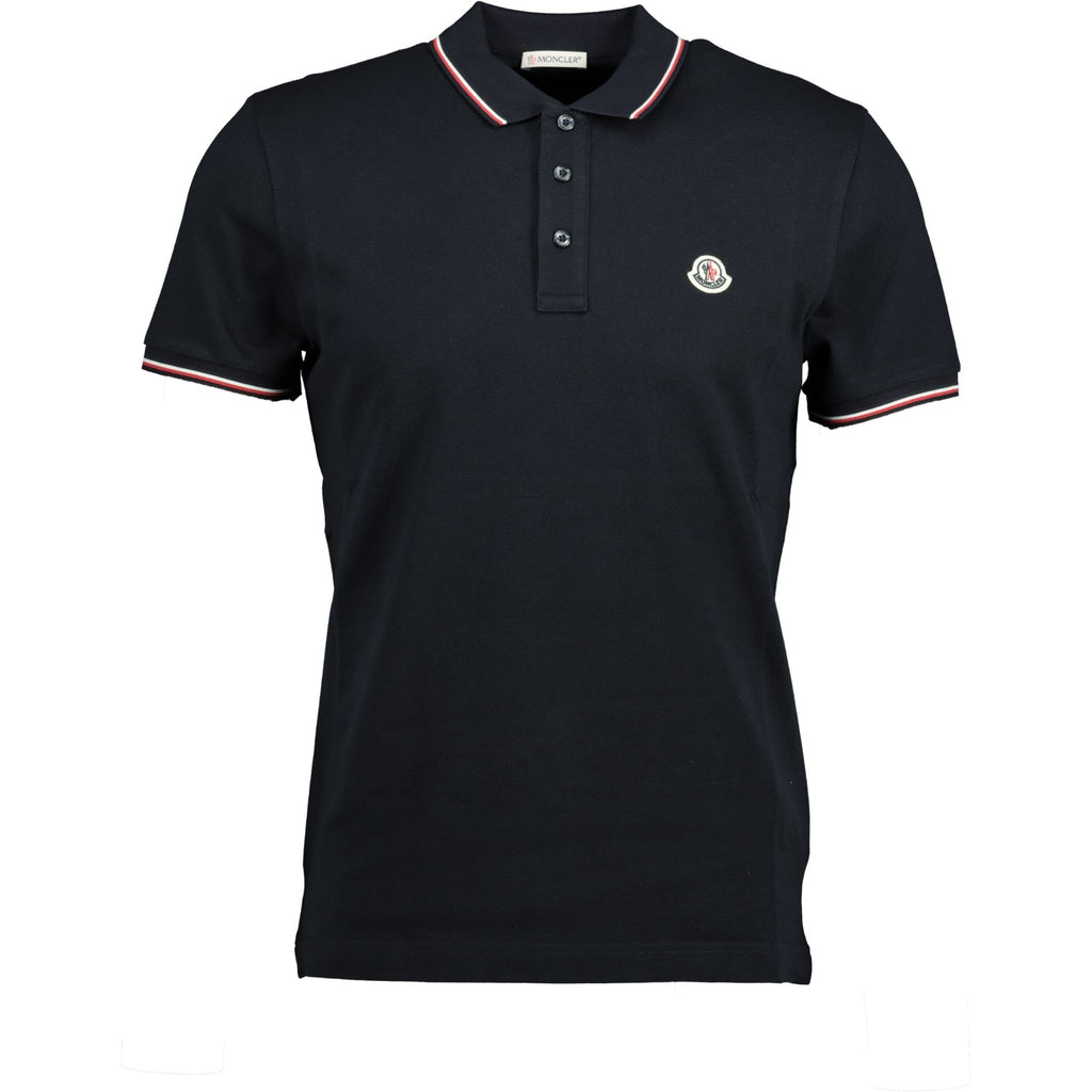 Moncler Stripe Cotton Polo Navy - chancefashionco