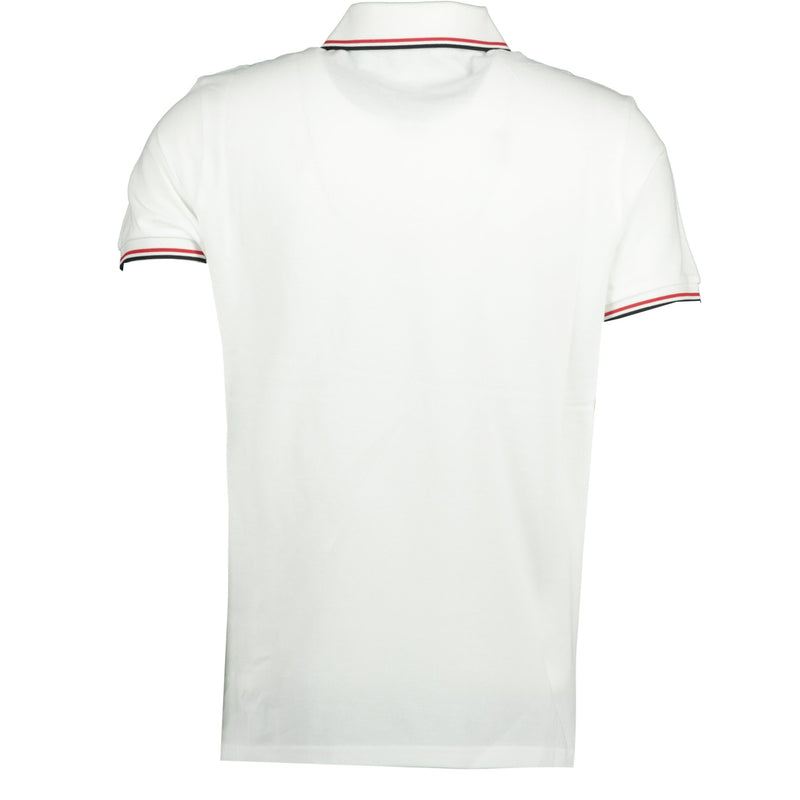 Moncler Stripe Cotton Polo White - chancefashionco
