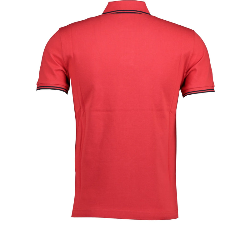 Moncler Twin Tip Cotton Polo Red - chancefashionco