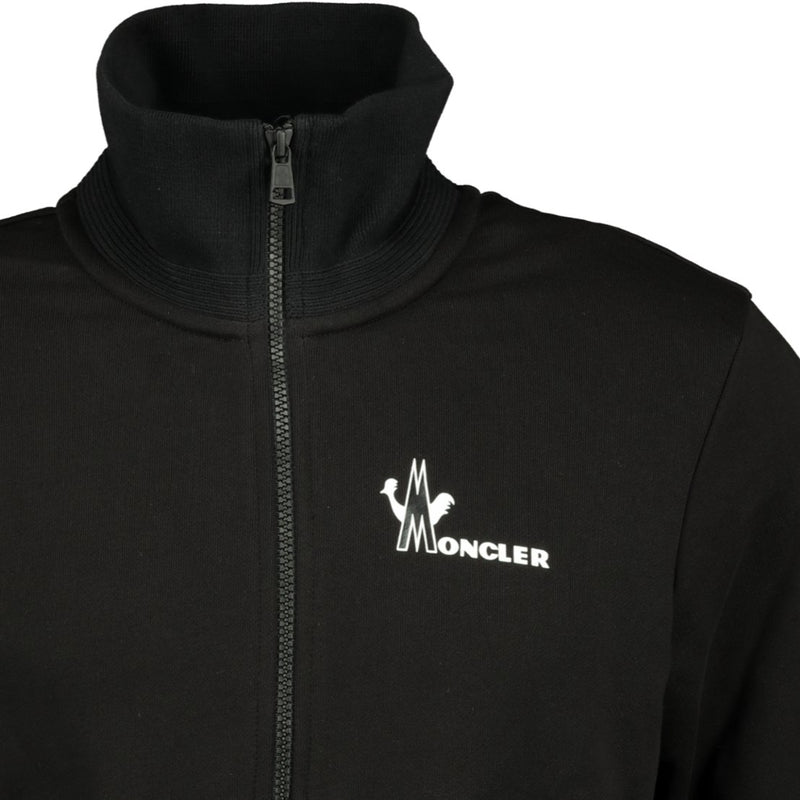 Moncler Zip-Up Sweatshirt Black - chancefashionco
