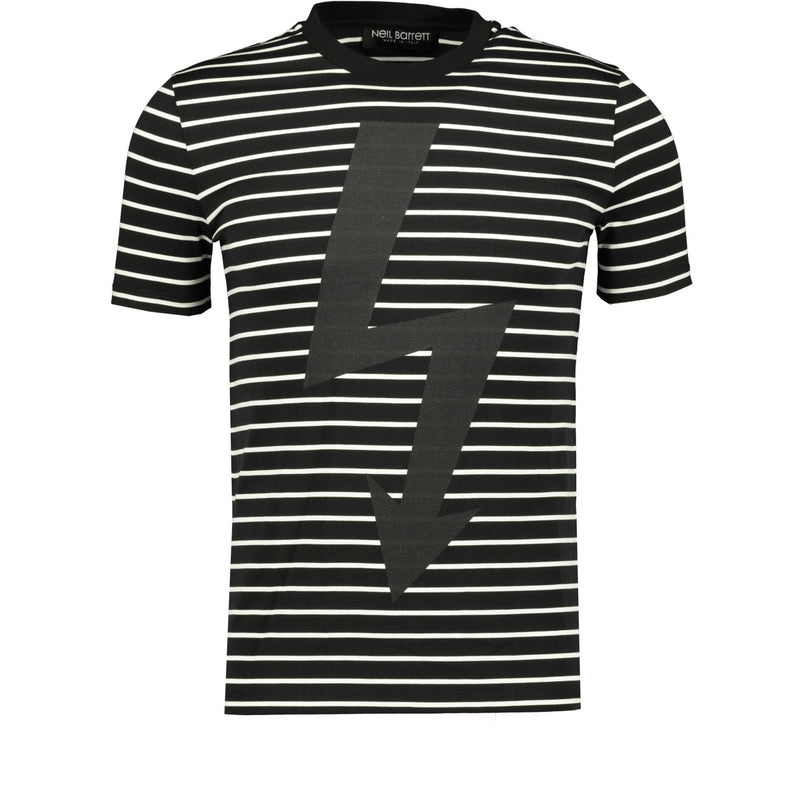 Neil Barrett Thunderbolt T-Shirt Black - chancefashionco