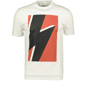 Neil Barrett Thunderbolt T-Shirt White - chancefashionco