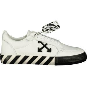 Off-White Vulcanized Low Top Trainers Black & White - chancefashionco