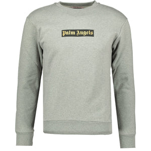 Palm Angels Box Logo Sweatshirt Grey - chancefashionco