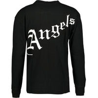 Palm Angels Gothic Long Sleeve T-Shirt Black - chancefashionco