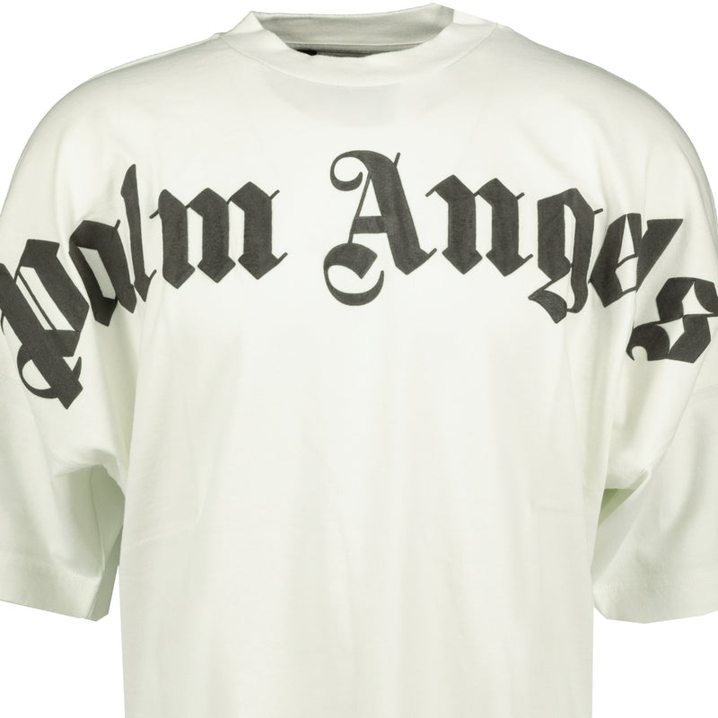 Palm Angels Gothic Oversized T-Shirt White - chancefashionco