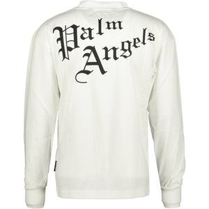 Palm Angels Sacred Heart Long Sleeve T-Shirt White - chancefashionco