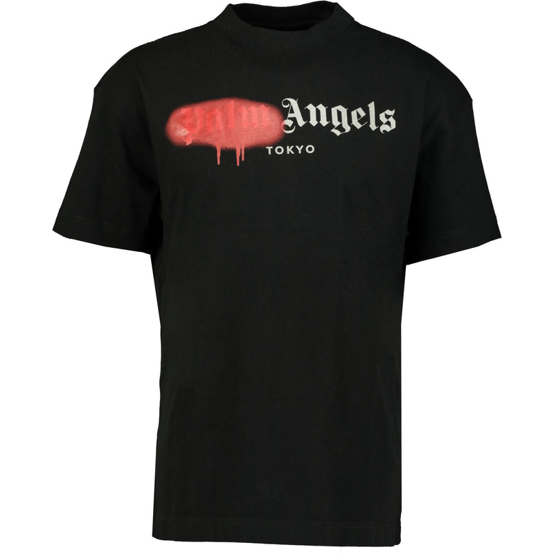 Palm Angels Tokyo Spray Paint T-Shirt Black - chancefashionco