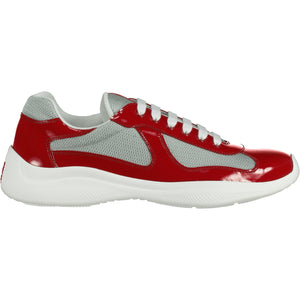 Prada Americas Cup Runners Patent Red - chancefashionco
