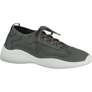 Prada Americas Cup Sock Knit Grey Trainers - chancefashionco