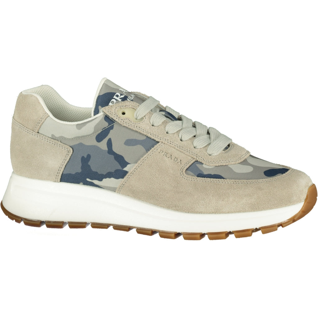 Prada Camo Trainers Blue - chancefashionco