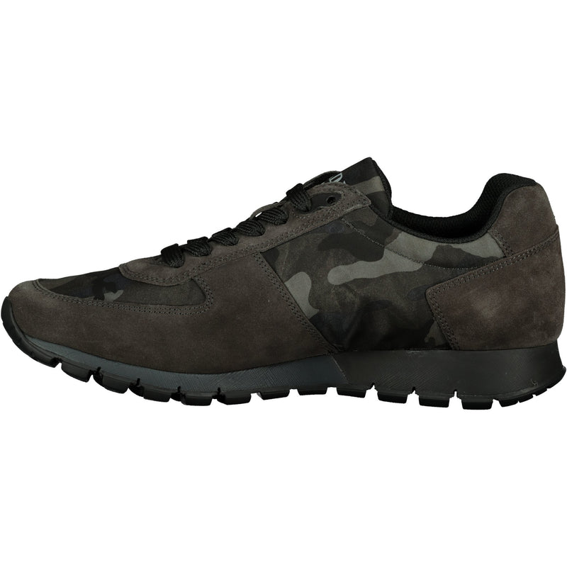 Prada Dark Grey Camo Suede Runners - chancefashionco