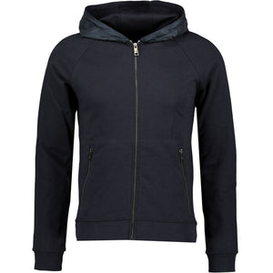 Prada Mix Nylon & Cotton Navy Hoodie - chancefashionco