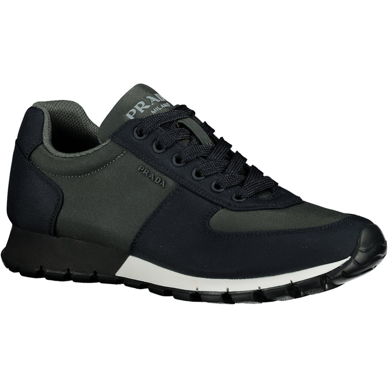 Prada Navy And Grey With White Trim Runners - chancefashionco