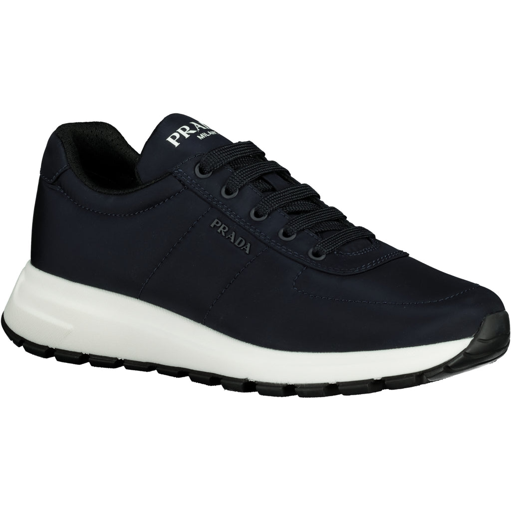 Prada Navy Nylon Runners - chancefashionco