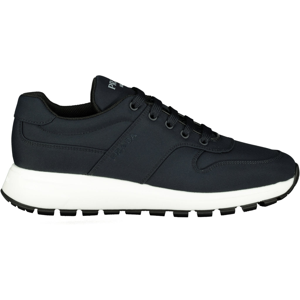 Prada Navy With White Trim Runners - chancefashionco