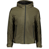 Prada Nylon Hooded Down Jacket Khaki - chancefashionco