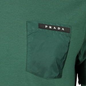 Prada Nylon Pocket T-Shirt Green - chancefashionco