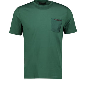 You added <b><u>Prada Nylon Pocket T-Shirt Green</u></b> to your cart.