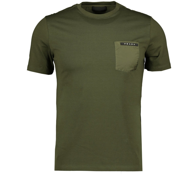 Prada Nylon Pocket T-Shirt Khaki - chancefashionco