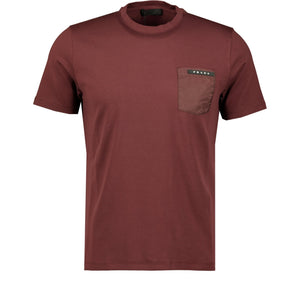 Prada Nylon Pocket T-Shirt Maroon - chancefashionco