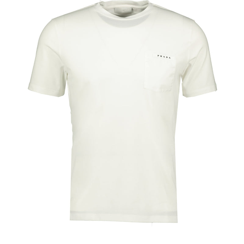 Prada Nylon Pocket T-Shirt White - chancefashionco
