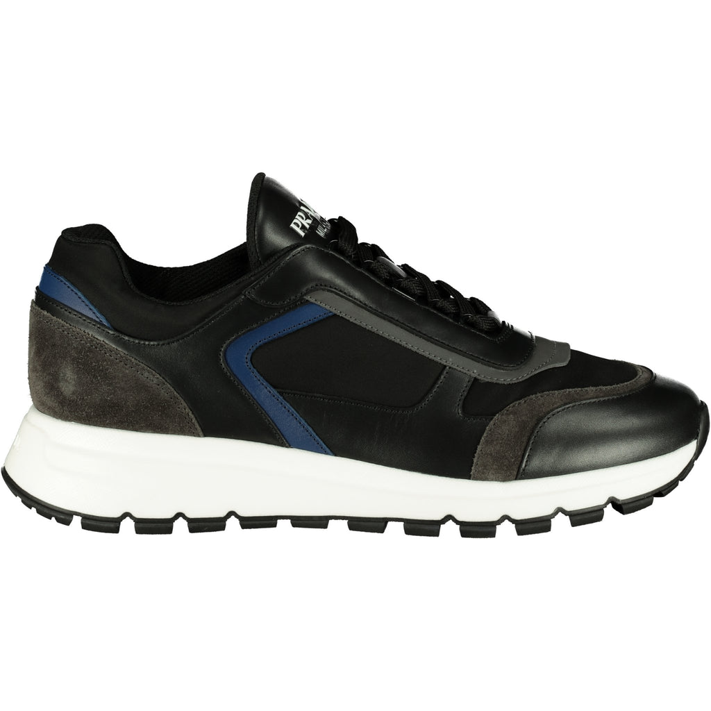 Prada Reflective Black Nylon & Suede Runners - chancefashionco