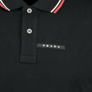 Prada Short Sleeve Polo Black - chancefashionco