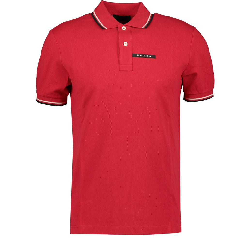 Prada Short Sleeve Polo Red - chancefashionco