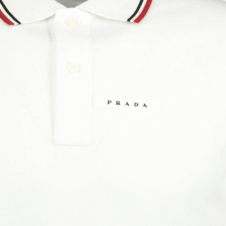Prada Short Sleeve Polo White - chancefashionco