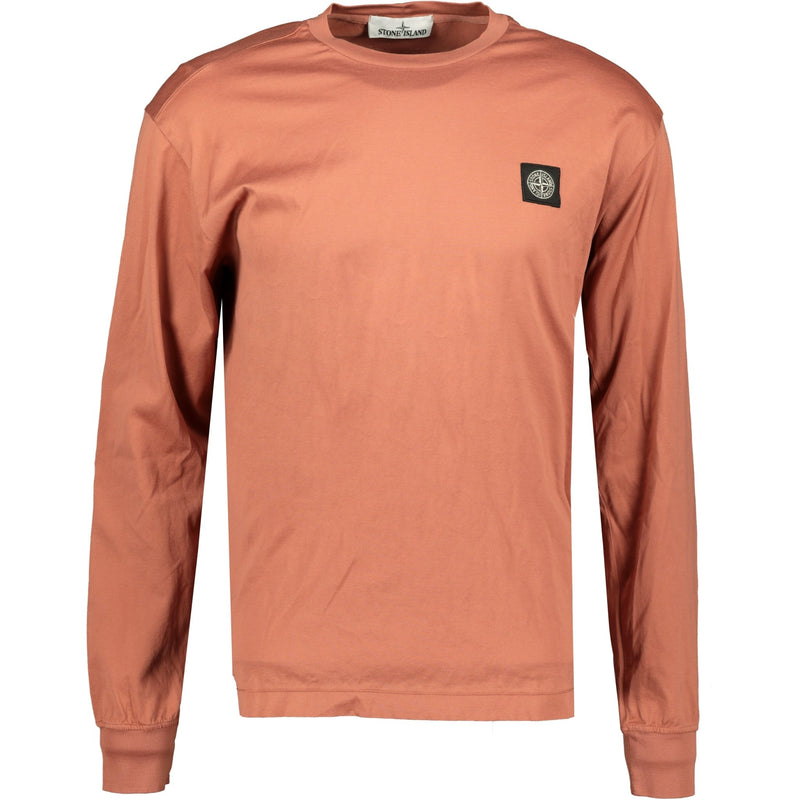 Stone Island Compass Logo Long Sleeve T-Shirt Peach - chancefashionco