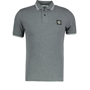 Stone Island Compass Logo Polo Grey - chancefashionco