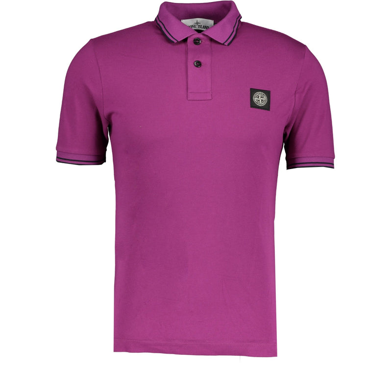 Stone Island Compass Logo Polo Purple - chancefashionco