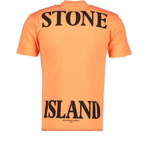 Stone Island Compass Logo Printed T-Shirt Orange - chancefashionco