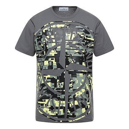 Stone Island Digital Camo T-Shirt Grey - chancefashionco