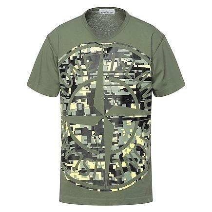 Stone Island Digital Camo T-Shirt Khaki - chancefashionco