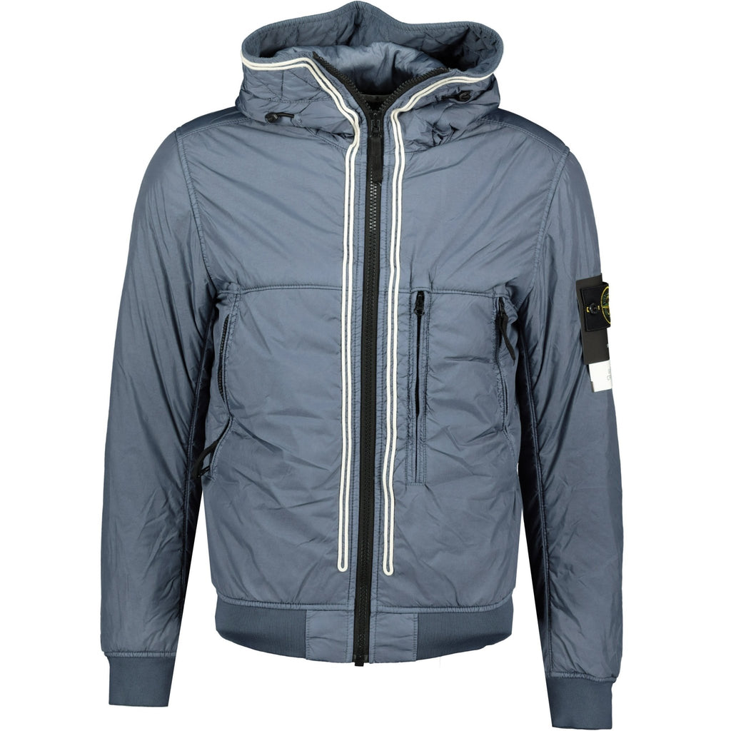Stone Island Garment Dyed Crinkle NY Padded Jacket Blue - chancefashionco
