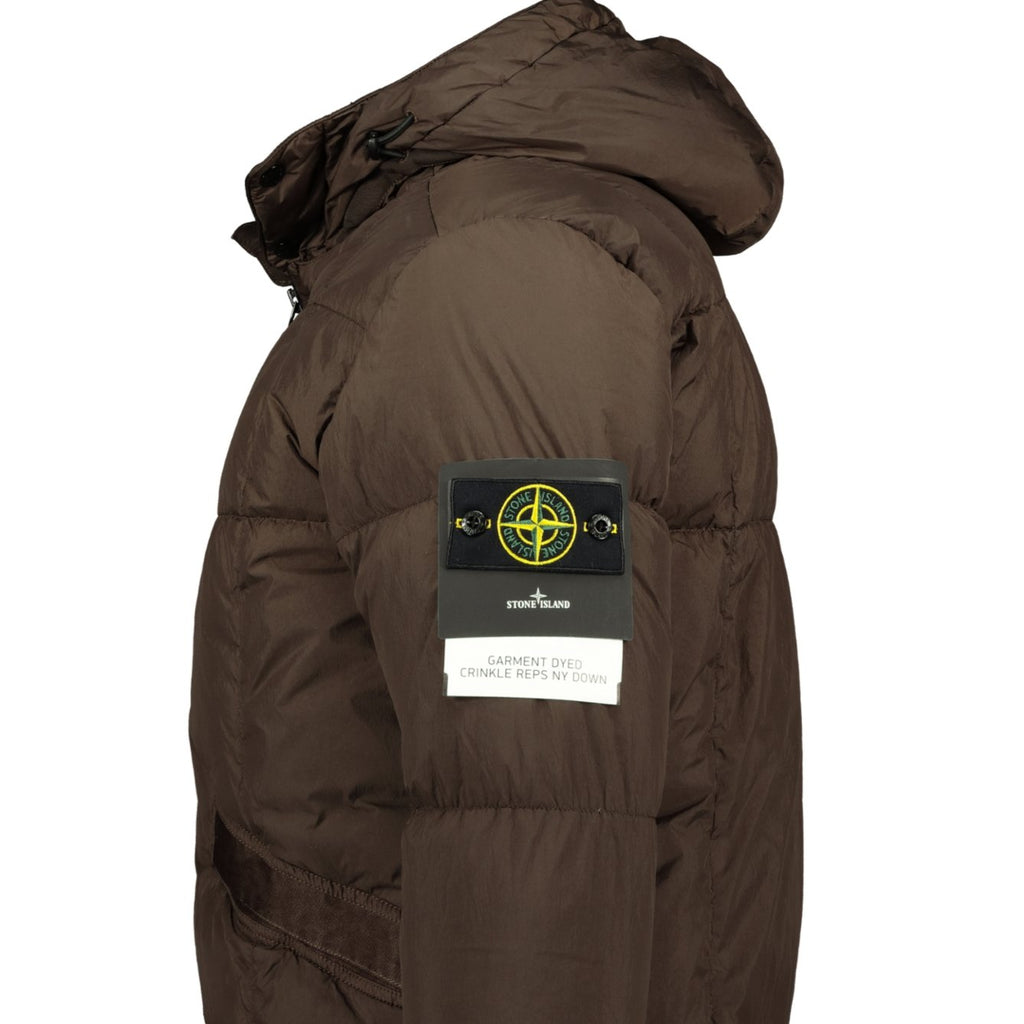 Stone Island Garment Dyed Crinkle Reps Down Jacket Brown - chancefashionco