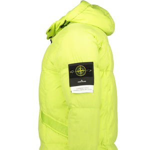 Stone Island Garment Dyed Crinkle Reps Down Jacket Green - chancefashionco