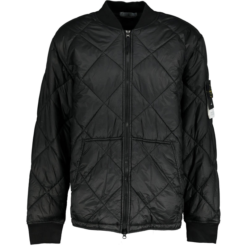 Stone Island Garment Dyed Quilted Micro Yarn Jacket Black - chancefashionco