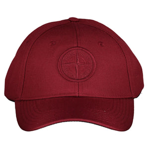 Stone Island Logo Cotton Hat Red - chancefashionco