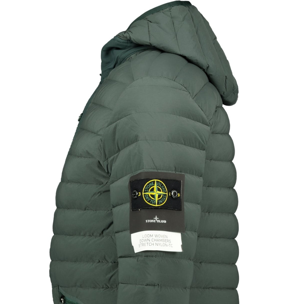 Stone Island Loom Woven Down Jacket Green - chancefashionco