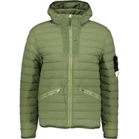 Stone Island Loom Woven Down Jacket Khaki - chancefashionco