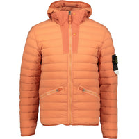 Stone Island Loom Woven Down Jacket Peach - chancefashionco