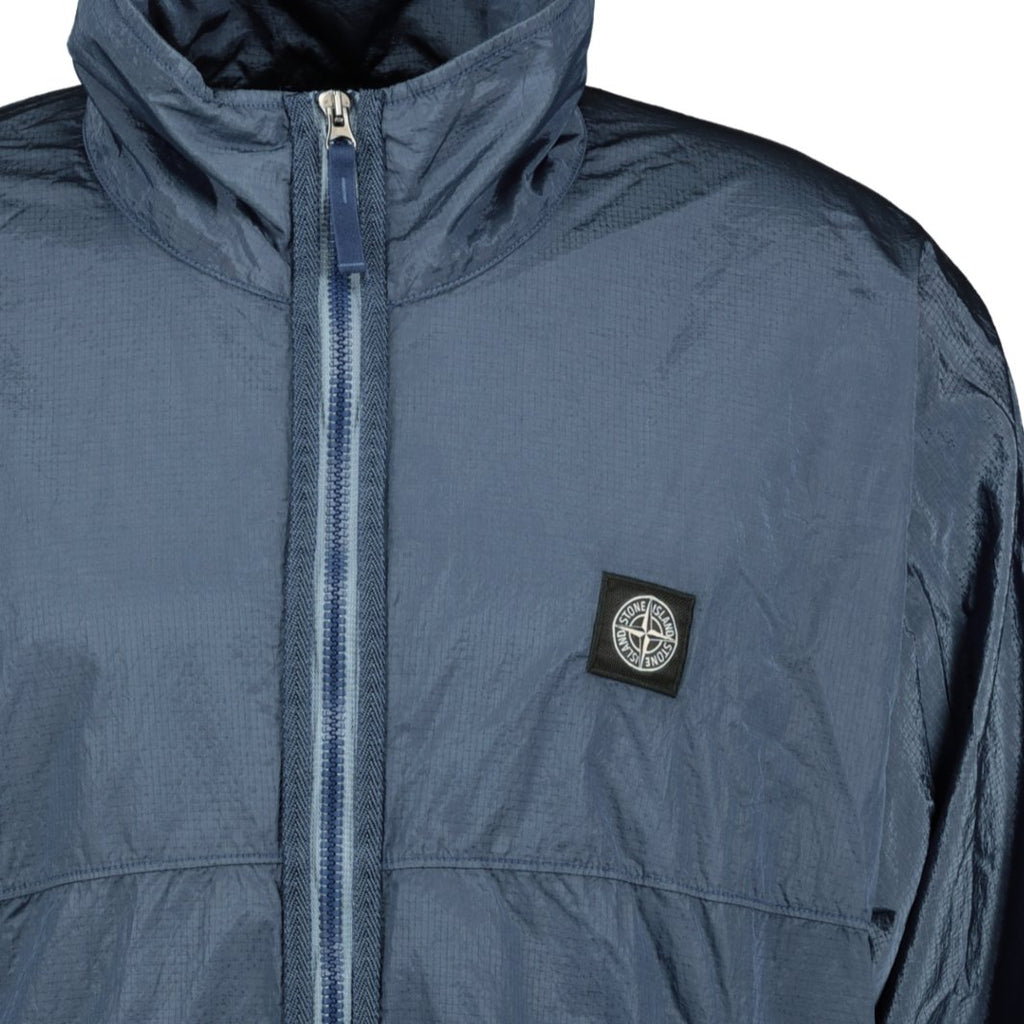 Stone Island Nylon Metal Zip Jacket Blue - chancefashionco