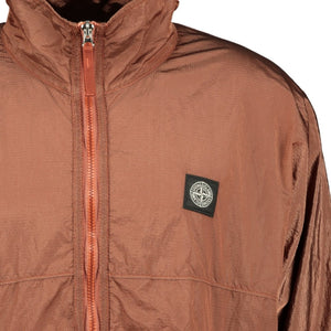 Stone Island Nylon Metal Zip Jacket Brown - chancefashionco