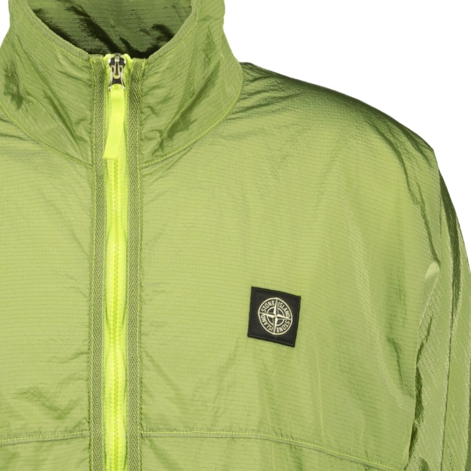 Stone Island Nylon Metal Zip Jacket Lime Green - chancefashionco
